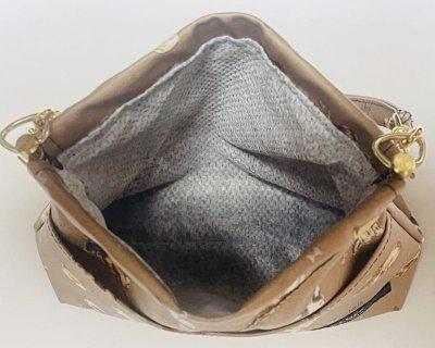 画像1: 消臭マナーポーチ《大》 (ribbon dogs)brown防水加工
